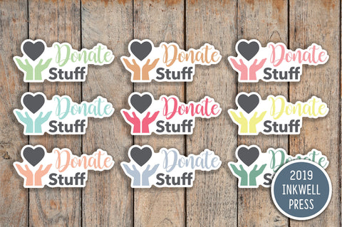 Donation/Goodwill Icon Planner Stickers for 2019 inkWELL Press Planners IWP-T223