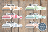 Rotate Mattress Planner Stickers for 2019 inkWELL Press Planners IWP-T249