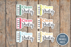 Clean Pantry Planner Stickers for 2019 inkWELL Press Planners IWP-T250