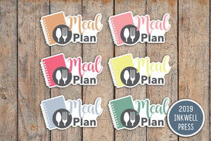Meal/Menu Plan Planner Stickers for 2019 inkWELL Press Planners IWP-T238