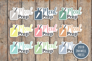 Meal Prep Planner Stickers for 2019 inkWELL Press Planners IWP-T239