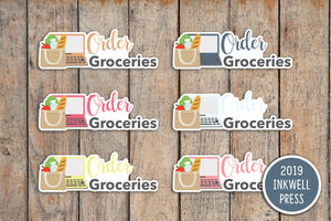 Order Groceries Planner Stickers for 2019 inkWELL Press Planners IWP-T240