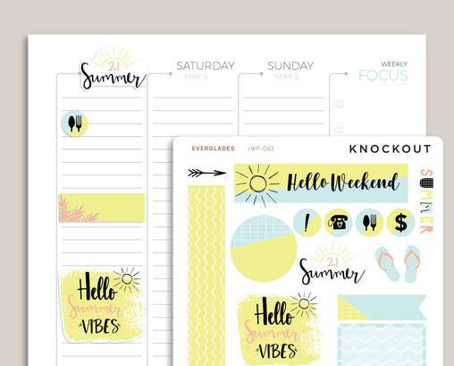 Summer Themed Kit for 2019 inkWELL Press Planners IWP-G61