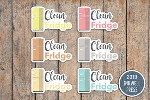 Clean Fridge Planner Stickers for 2019 inkWELL Press Planners IWP-T251