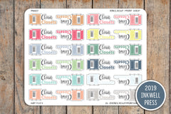 Clean Closets Planner Stickers for 2019 inkWELL Press Planners IWP-T253
