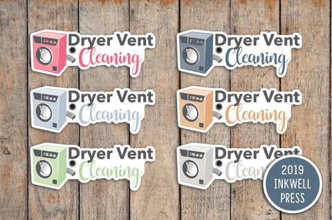 Clean Dryer Vents Planner Stickers for 2019 inkWELL Press Planners IWP-T254