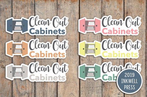 Clean Bathroom Cabinets Planner Stickers for 2019 inkWELL Press Planners IWP-T256