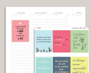 Quote Full Box Planner Stickers for 2019 inkWELL Press Planners IWP-G59