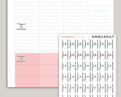 42 Gymnastics, Floor Exercise, Tumbling, Bars Pilates, Fitness, Stretching Icon Planner Stickers for 2018 inkWELL Press Planners IWP-Q276