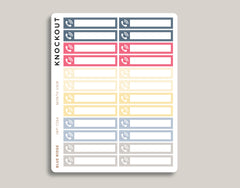 Phone Utility Bill Monthly View Planner Stickers for 2019 inkWELL Press Planners IWP-T264