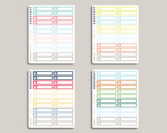 Rent Bill Monthly View Planner Stickers for 2019 inkWELL Press Planners IWP-T264