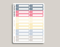 TV Utility Bill Monthly View Planner Stickers for 2019 inkWELL Press Planners IWP-T264