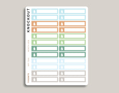 Water Utility Bill Monthly View Planner Stickers for 2019 inkWELL Press Planners IWP-T264