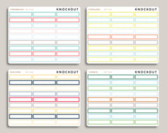 Outlined Single Line Box Planner Stickers for 2019 inkWELL Press
