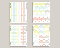 Striped Functional Shape Sticker Bundle IWP-B6