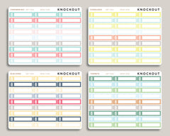 Garbage Utility Bill Planner Stickers for 2019 inkWELL Press Planners IWP-T263