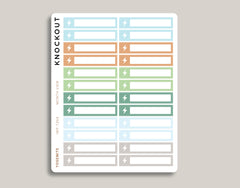 Electric Utility Bill Monthly View Planner Stickers for 2019 inkWELL Press Planners IWP-T264