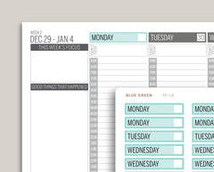 Mildliner Striped Date Covers for Passion Planner PP-L8