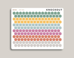 Solid Mini Hexagons Stickers for 2020 inkWELL Press Planners IWP-RM1