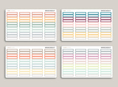 Striped Monthly Planner Stickers for 2020 inkWELL Press Planners IWP-RL16