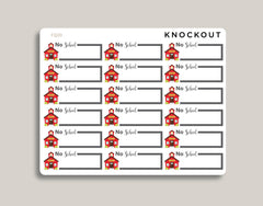 No School Half Box Planner Sticker FQ20