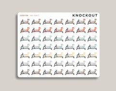 Indoor Rowing Icon Planner Stickers for 2020 inkWELL Press Planners IWP-RM17