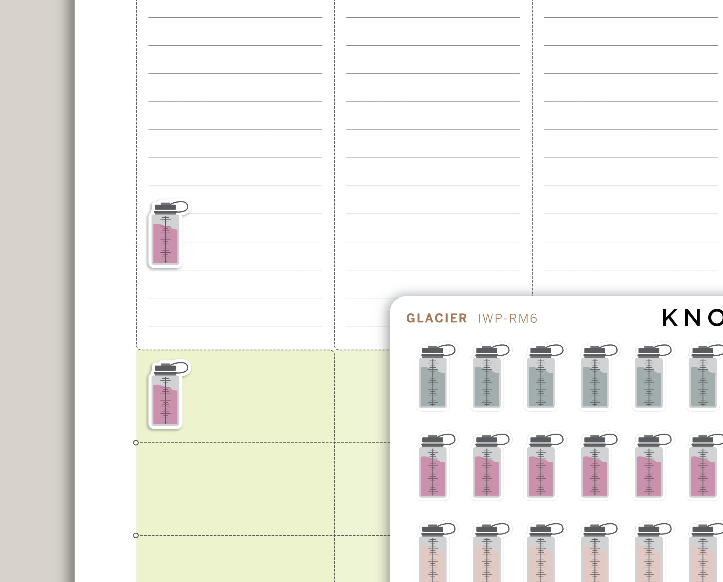 Water Bottle Planner Stickers for 2020 inkWELL Press Planners IWP-RM6