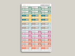 Weekly Savings Tracker Stickers for 2020 inkWELL Press Planners IWP-RL36