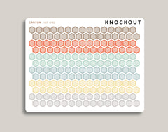 Striped Mini Hexagons Stickers for 2020 inkWELL Press Planners IWP-RM2