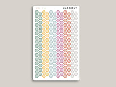 Striped Habit Tracker Hexagons Stickers for 2020 inkWELL Press Planners IWP-RL4