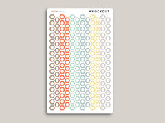 Outlined Habit Tracker Hexagons Stickers for 2020 inkWELL Press Planners IWP-RL5
