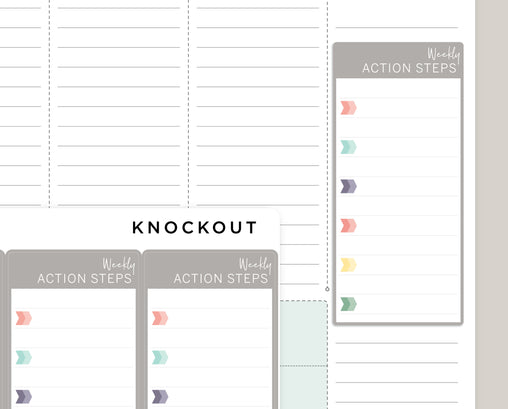Weekly Action Steps Note Sidebar Sticker for 2020 inkWELL Press IWP-RL51