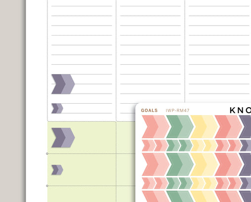 Goal Arrow Planner Sticker for 2020 inkWELL Press Planners IWP-RM47