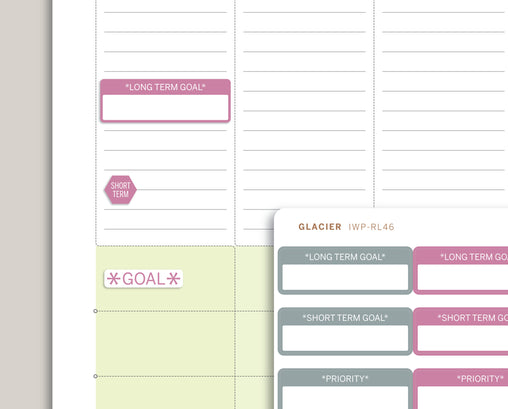 Goal Setting Planner Stickers for 2020 inkWELL Press Planners IWP-RL46