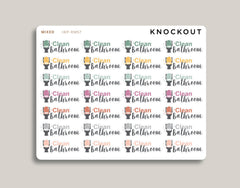 Clean Bathroom Icon Planner Stickers for 2020 inkWELL Press Planners IWP-RM57