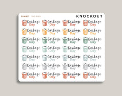 Garbage Day Icon Planner Sticker for 2020 inkWELL Press Planners IWP-RM51
