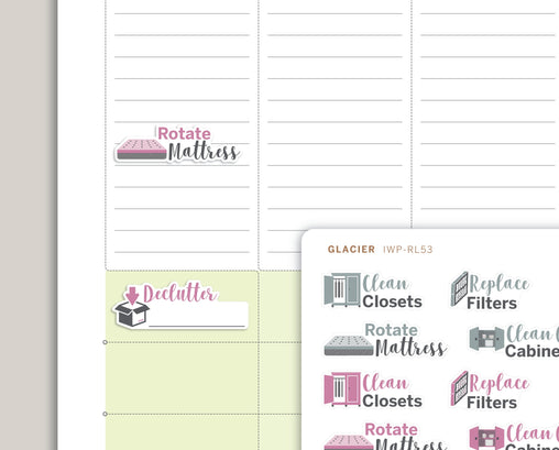 Quarterly Chores Sampler Planner Stickers for 2020 inkWELL Press Planners IWP-RL53