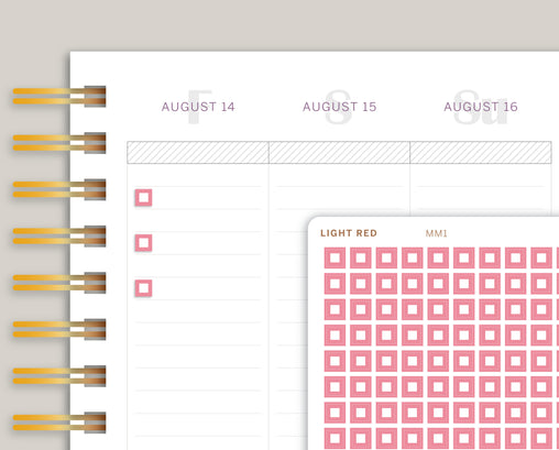 Outlined Square Checkbox Planner Stickers for MakseLife Planner MM1