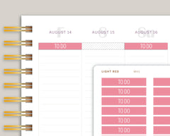 Classic Header Stickers for MakseLife Planners MH1