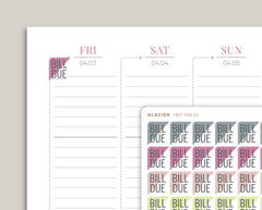 Dollars Sign Corner Label Planner Stickers for 2020 inkWELL Press Planners IWP-RM30