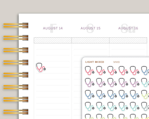 Doctor's Appointment Icon Planner Stickers for Makse Life Planner MM8
