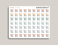 Shopping Cart Icon Planner Sticker for 2020 inkWELL Press Planners IWP-RM80