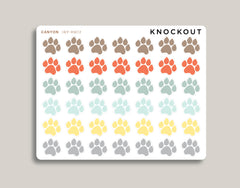 Paw Icon Stickers for 2020 inkWELL Press Planners IWP-RM72