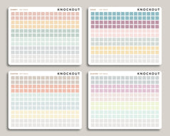 Striped Square Checkbox Planner Stickers for 2020 inkWELL Press IWP-RM44