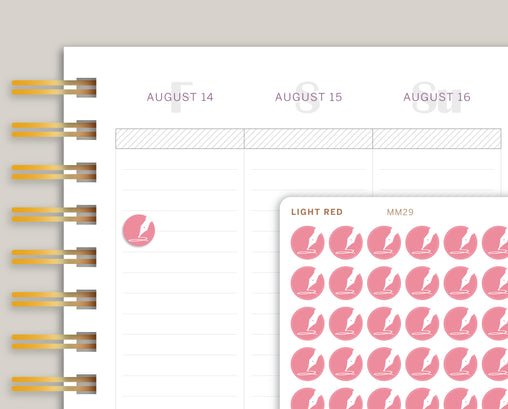 Pen Circle Icon Planner Sticker for Makse Life Planner MM29