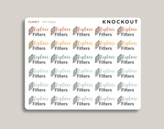 Replace Filters Icon Planner Stickers for 2020 inkWELL Press Planners IWP-RM60