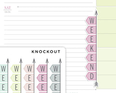 Striped FLEX Weekend Banner Stickers for 2020 inkWELL Press Planners IWP-RL80