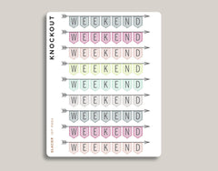 CLASSIC Striped Weekend Banner Stickers for 2020 inkWELL Press Planners IWP-RM84