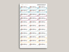 Birthday Label Planner Stickers for 2020 inkWELL Press Planners IWP-RL83