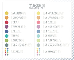 Horizontal Flag Stickers for MakseLife Planners MH6
